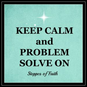 Keep Calm and Problem Solve On