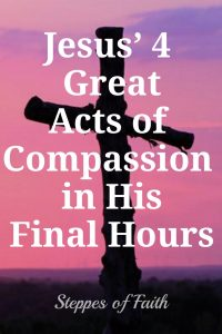 Jesus' 4 Great Acts of Compassion in His Final Hours by Steppes of Faith