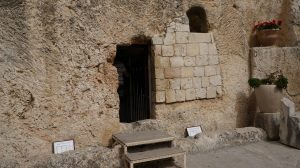 Site of Jesus' tomb in Jerusalem.