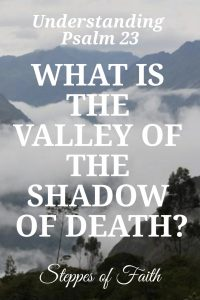 Understanding Psalm 23: What is the Valley of the Shadow of Death? by Steppes of Faith