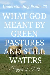 Understanding Psalm 23: What God Meant by Green Pastures and Still Waters by Steppes of Faith June 2018