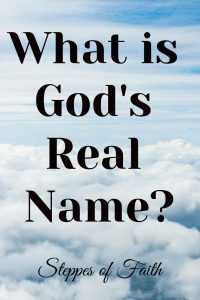 What is God's Real Name?