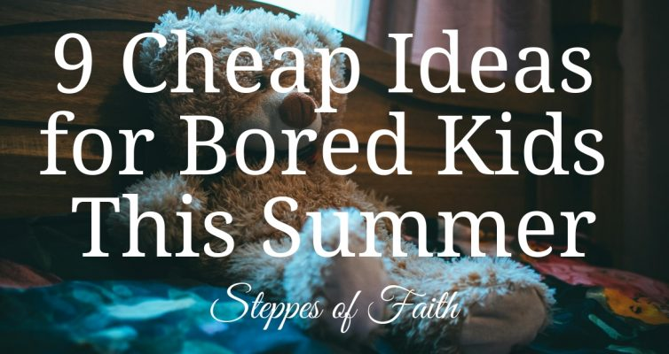 9 Cheap Ideas for Bored Kids This Summer by Steppes of Faith