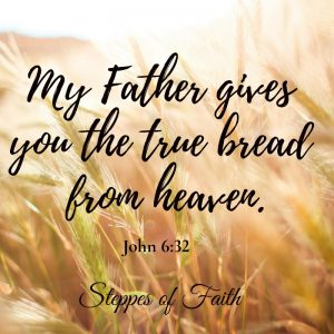 """""""My Father gives you the true bread from heaven."""" John 6:32"""