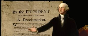 President George Washington was the first to declare a national day of Thanksgiving be set aside for us to count our blessings.