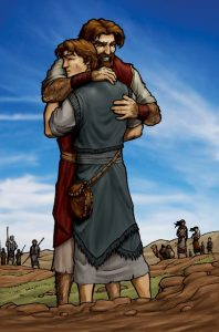 After Jacob finally realized he always had his father's blessing, he asked his brother, Esau, for forgiveness.