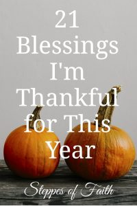 """21 Blessings I'm Thankful for This Year"" by Steppes of Faith"