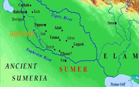 The city of Susa in far eastern Mesopotamia.