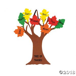 A Thankfulness Tree will help you remember your blessings all month long.