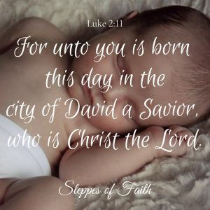 """For unto you is born this day in the city of David a Savior, who is Christ the Lord."" Luke 2:11"