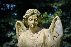 The angel was hand-delivering a message to Temple priests to inform them that animal sacrifices were no longer necessary.