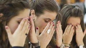 Most Jewish believers cover their eyes when they pray the Shema.