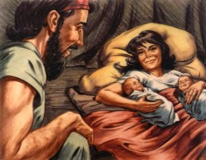 Isaac and Rebekah thought Jacob and Esau were a blessing.