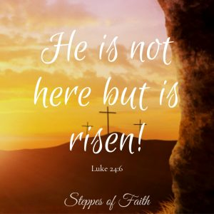 """He is not here but is risen!"" Luke 24:6"