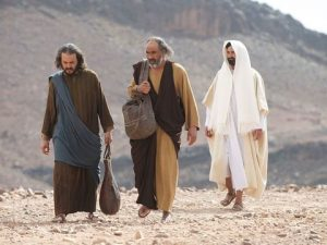 As the disciples walked to Emmaus, a mysterious man joined them. It was Jesus.