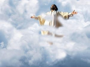 Jesus' ascension back to the kingdom of God.
