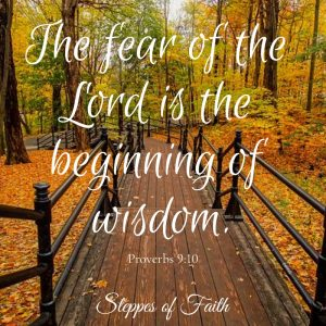 "Bible verse: ""The fear of the Lord is the beginning of wisdom."" Proverbs 9:10"