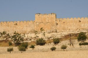 The Second Temple's Golden Gate that led to the Woman's Court.