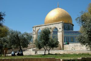 The Dome of the Rock sits (to the anger of many) on where the rightful place where many Biblical events occurred including the temple Herod built.