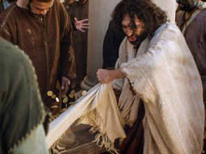 Jesus overturned the tables in the Temple complaining the people had turned the place into a den of thieves.