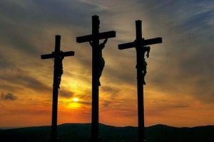 Two criminals hung next to Jesus the day of His crucifixion.