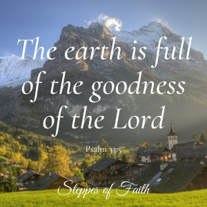 """The earth is full of the goodness of the Lord."" Psalm 33:5"