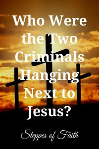 """""""Who Were the Two Criminals Hanging Next to Jesus?"""" by Steppes of Faith"""