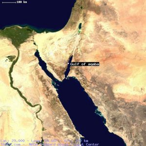 the southern edge of Canaanite territory was at the northern tip of the Gulf of Aqaba.