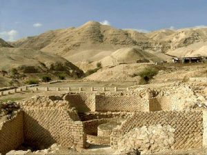 Joshua told the Israelites to march around Jericho seven times so the walls would fall.