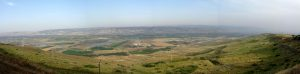 A panoramic view of the Promised Land Moses never got to see.