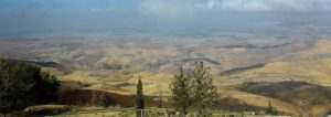 Moses could see the Promised Land from the top of Mount Nebo.