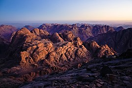The Israelites camped on Mount Sinai for over a year.