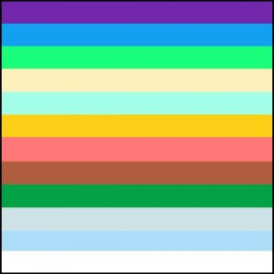 An amateur representation of what the colors of the New Jerusalem's walls will look like.