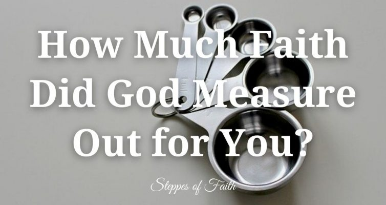 How Much Faith Did God Measure Out for You? by Steppes of Faith
