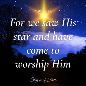 """For we saw His star and have come to worship Him."" Matthew 2:2"