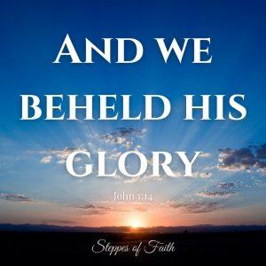 """""""And we beheld His glory."""" John 1:14"""