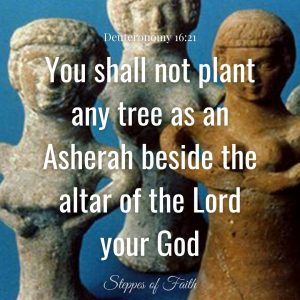 """You shall not plant any tree as an Asherah beside the altar of the Lord your God."" Deuteronomy 16:21"