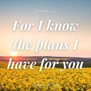 """""""For I know the plans I have for you."""" Jeremiah 29:11 NLT"""