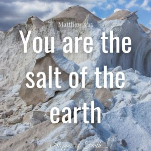 """""""You are the salt of the earth."""" Mark 5:13"""