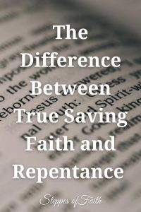 """""""The Difference Between True Saving Faith and Repentance"""" by Steppes of Faith"""